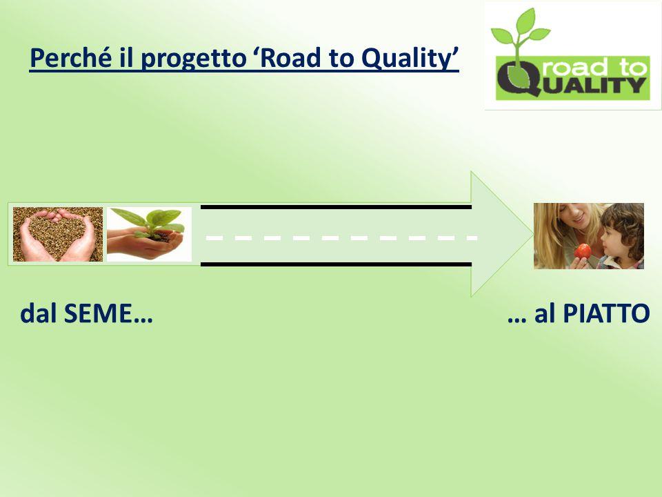 Perché il progetto 'Road to Quality' Il consumatore è sempre più orientato verso l'acquisto di prodotti di qualità, salubri e sostenibili.