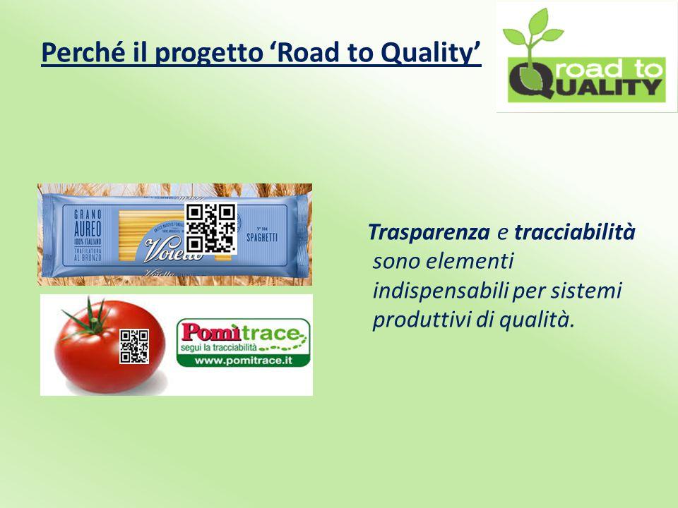 Perché il progetto 'Road to Quality' Trasparenza e tracciabilità sono elementi indispensabili per sistemi produttivi di qualità.
