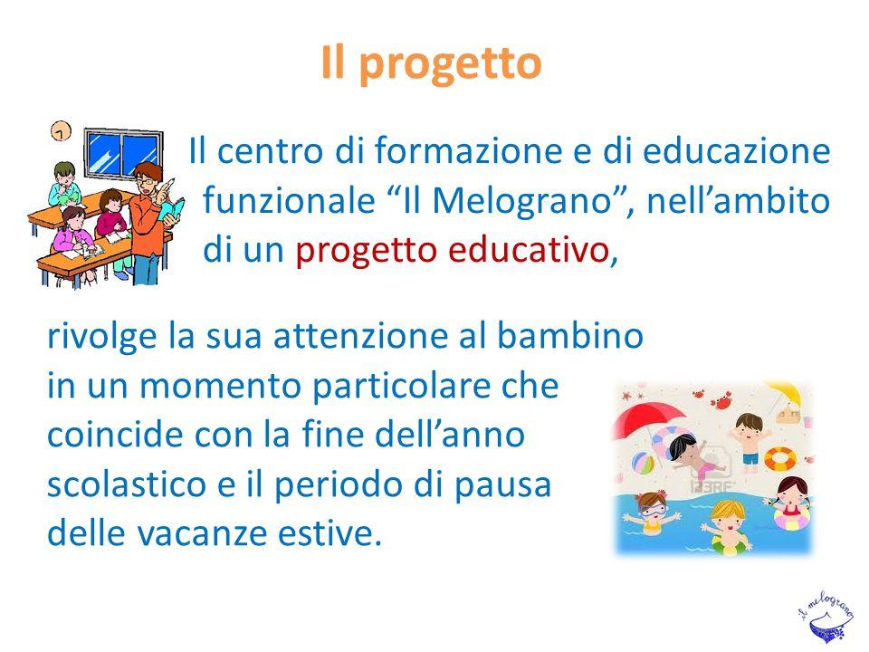 Il progetto rivolge la sua attenzione al bambino in un momento particolare che coincide con la fine dell'anno scolastico e il periodo di pausa delle v