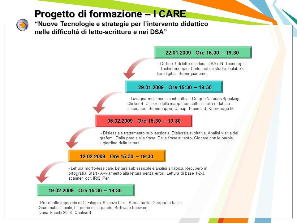 """Progetto di formazione – I CARE """"Nuove Tecnologie e strategie per l'intervento didattico nelle difficoltà di letto-scrittura e nei DSA"""" - Lavagna mult"""