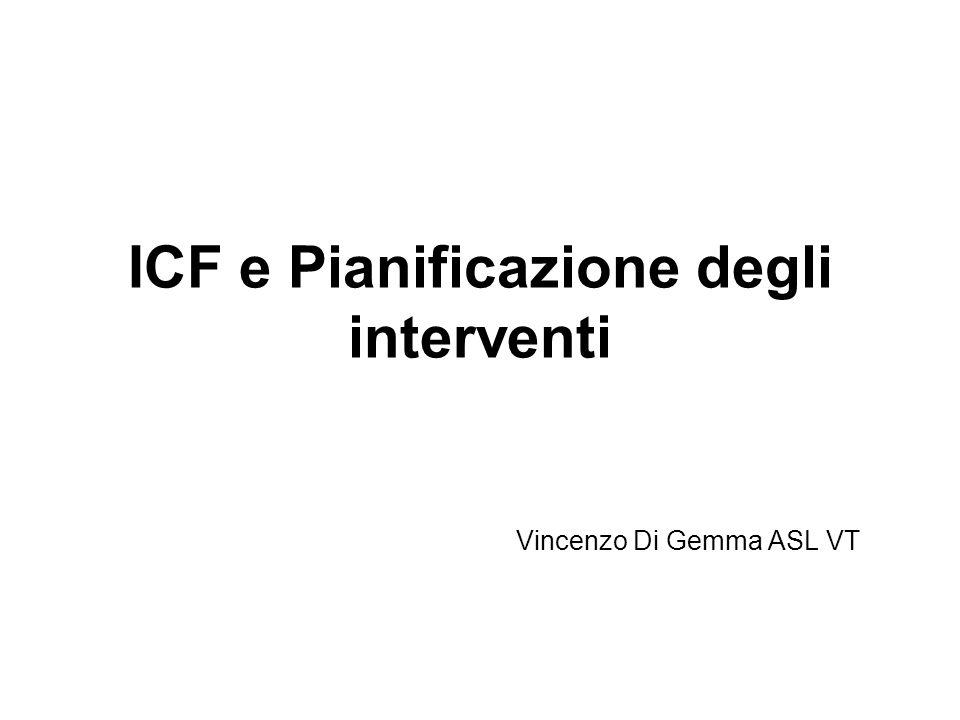 ICF e Pianificazione degli interventi Vincenzo Di Gemma ASL VT