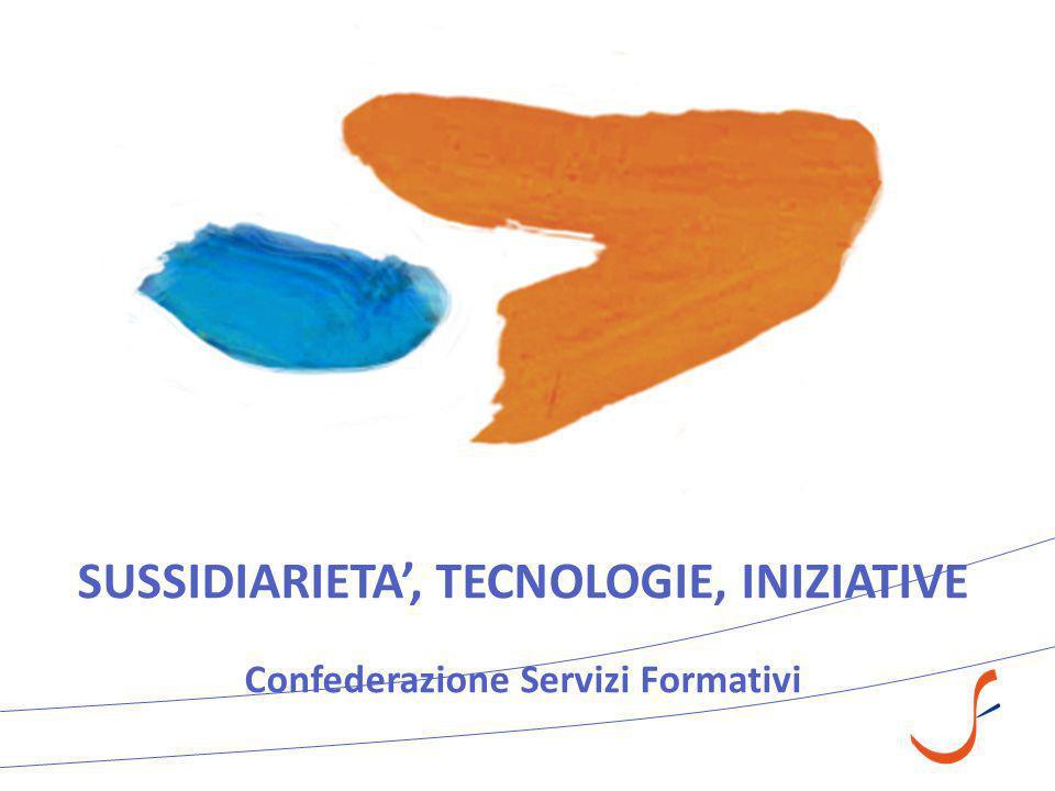 SUSSIDIARIETA', TECNOLOGIE, INIZIATIVE Confederazione Servizi Formativi
