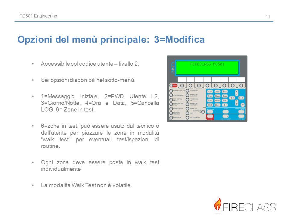 FC501 Engineering Accessibile col codice utente – livello 2.
