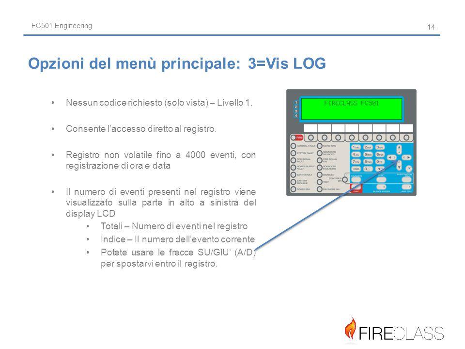 FC501 Engineering Nessun codice richiesto (solo vista) – Livello 1.