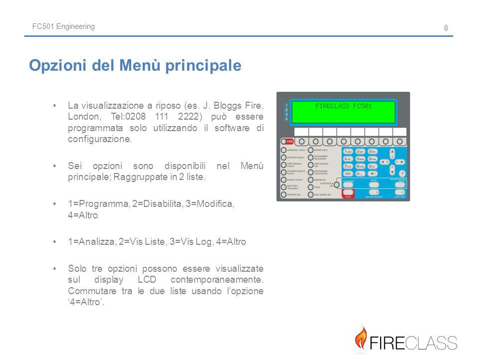 FC501 Engineering La visualizzazione a riposo (es.