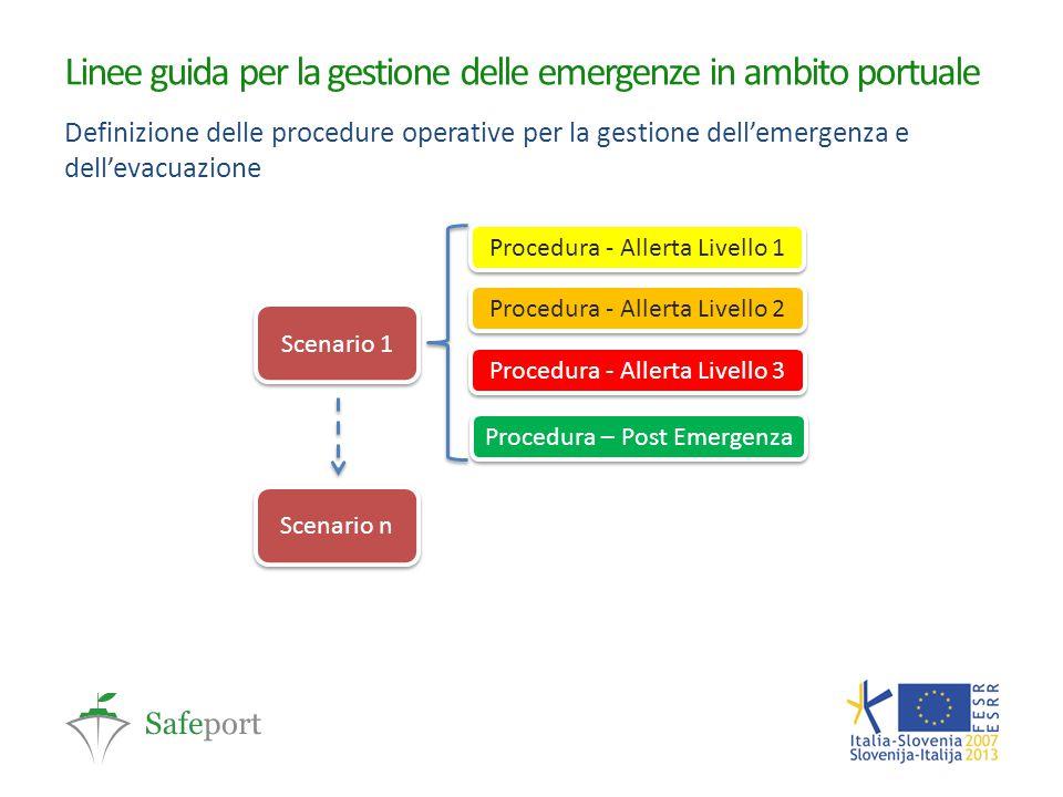 Linee guida per la gestione delle emergenze in ambito portuale Definizione delle procedure operative per la gestione dell'emergenza e dell'evacuazione