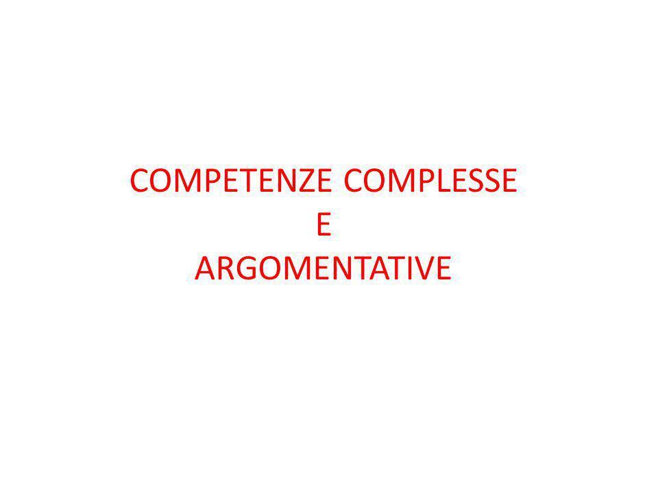 METACOMPETENZE * Analizzare il concetto di competenza, in particolare nel quadro delle INDICAZIONI NAZIONALI ( settembre 2012); riflettere sulle azioni didattiche che favoriscono la costruzione delle competenze; approfondire la capacità di argomentare quale competenza complessa produttrice di apprendimenti.