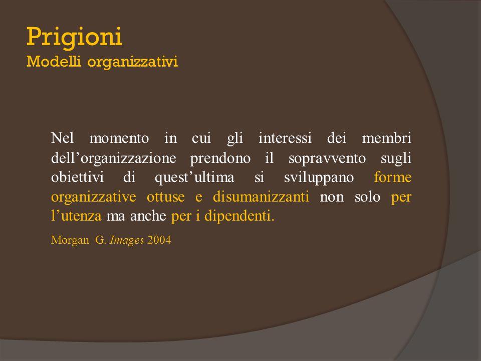 Nel momento in cui gli interessi dei membri dell'organizzazione prendono il sopravvento sugli obiettivi di quest'ultima si sviluppano forme organizzat