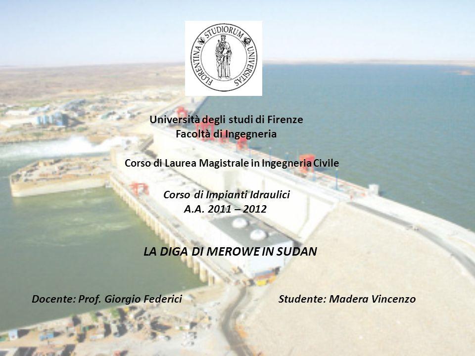 Università degli studi di Firenze Facoltà di Ingegneria Corso di Laurea Magistrale in Ingegneria Civile Docente: Prof.
