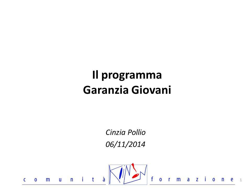 Il programma Garanzia Giovani Cinzia Pollio 06/11/2014 1
