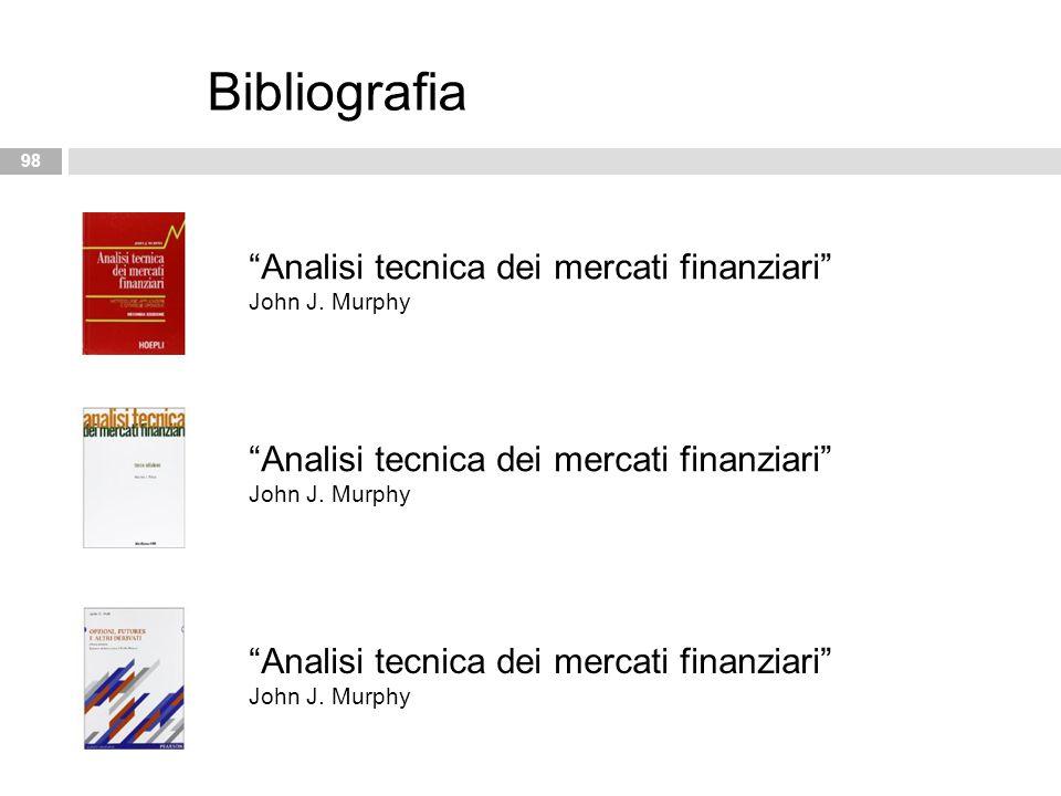 "98 Bibliografia ""Analisi tecnica dei mercati finanziari"" John J. Murphy"