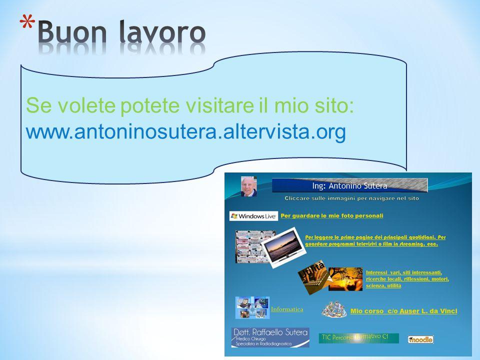Se volete potete visitare il mio sito: www.antoninosutera.altervista.org
