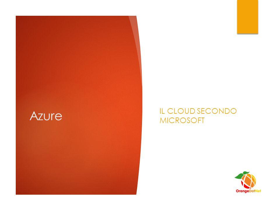 Azure IL CLOUD SECONDO MICROSOFT