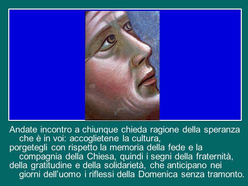 Considerando questo scenario, il discernimento comunitario sia l'anima del percorso di preparazione al Convegno ecclesiale nazionale di Firenze nel pr