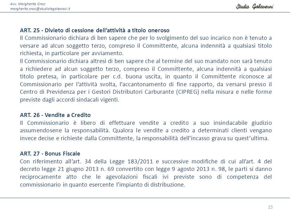 Avv.Margherita Croci margherita.croci@studiolegalecroci.it ART.