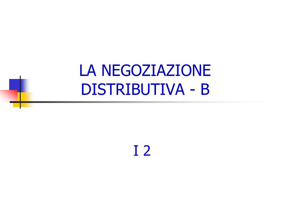 LA NEGOZIAZIONE DISTRIBUTIVA - B I 2
