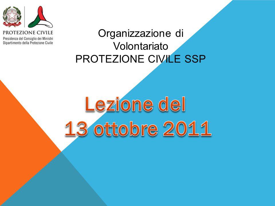 Organizzazione di Volontariato PROTEZIONE CIVILE SSP