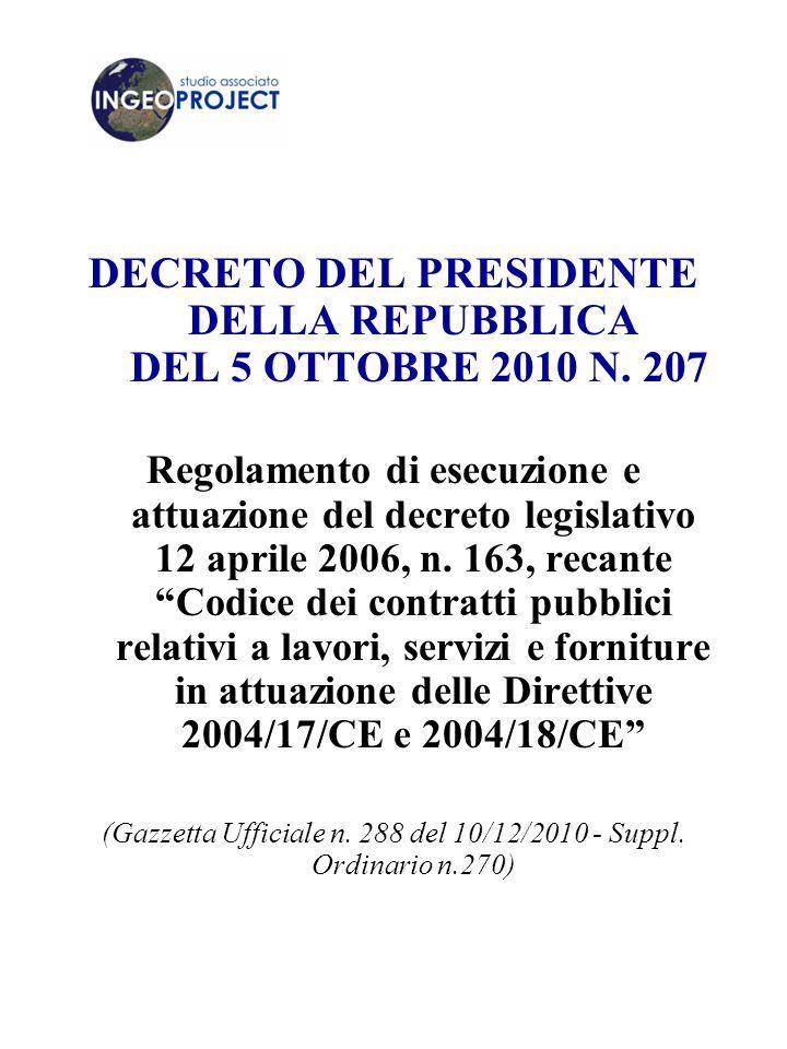 DECRETO DEL PRESIDENTE DELLA REPUBBLICA DEL 5 OTTOBRE 2010 N.