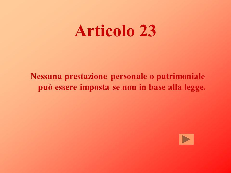 Commento all'articolo 22 A rafforzare il principio dei diritti inviolabili dell'uomo (art.2) si pone il divieto di privare chiunque del nome, della ca