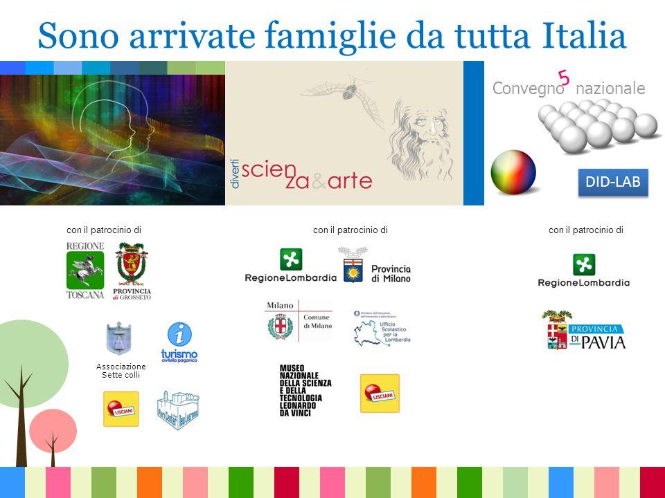 Associazione Sette colli con il patrocinio di Convegno nazionale con il patrocinio di DID-LAB Sono arrivate famiglie da tutta Italia