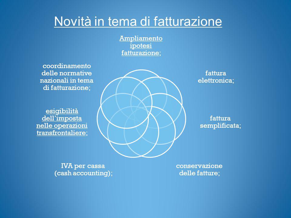 AMPLIAMENTO DELLA FATTURAZIONE (art.21 c.