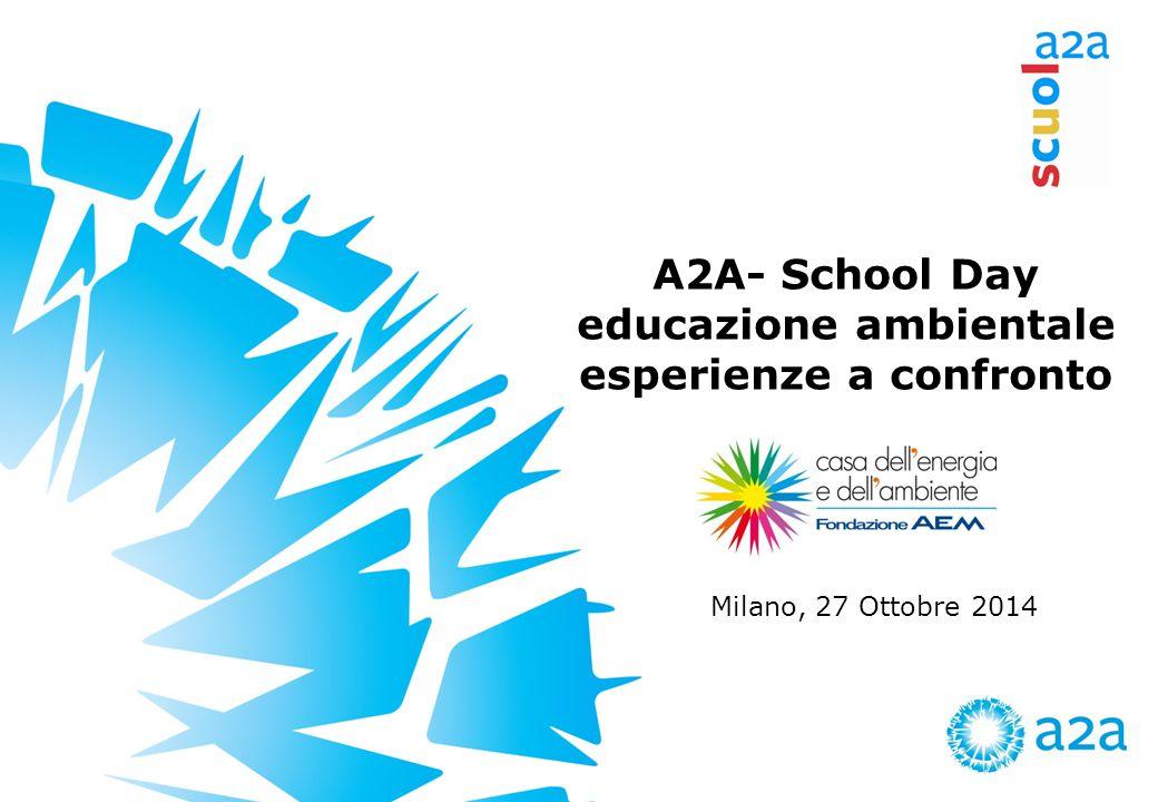 A2A- School Day educazione ambientale esperienze a confronto Milano, 27 Ottobre 2014