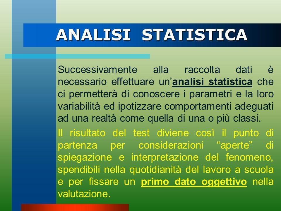 CARATTERISTICHE DEI TEST I Test per essere utili allo scopo di raccogliere dati realmente descrittivi la prestazione e per essere statisticamente atte