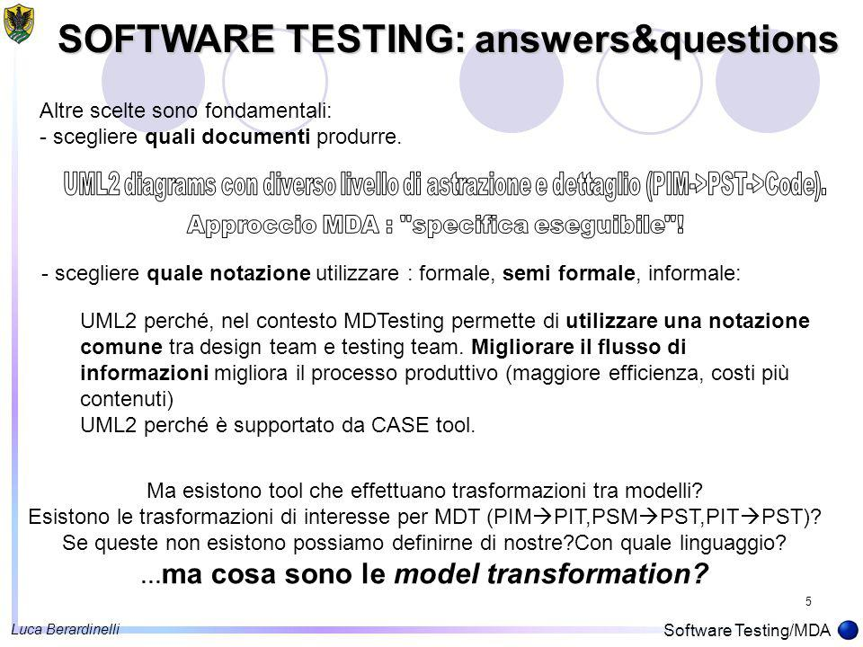 16 A Transformation Tool ModelTransformation Application Eclipse UML2, un indispensabile COTS per accedere ad una implementazione open source del metamodello UML2 Luca Berardinelli