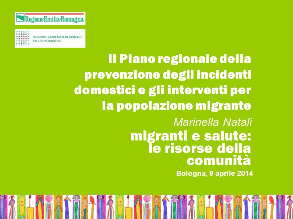 Bologna, 9 aprile 2014Nome relatoreMigranti e salute: le risorse della comunità Il Piano regionale della prevenzione degli incidenti domestici e gli i