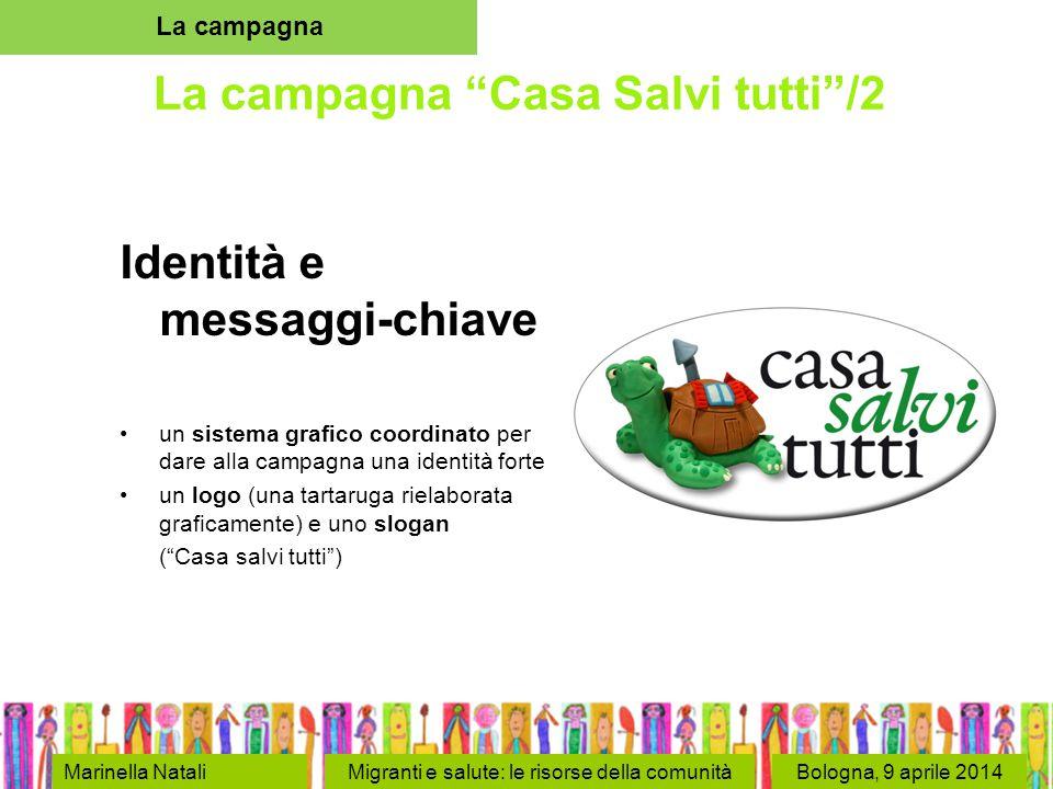 """Bologna, 9 aprile 2014 La campagna """"Casa Salvi tutti""""/2 Identità e messaggi-chiave un sistema grafico coordinato per dare alla campagna una identità f"""