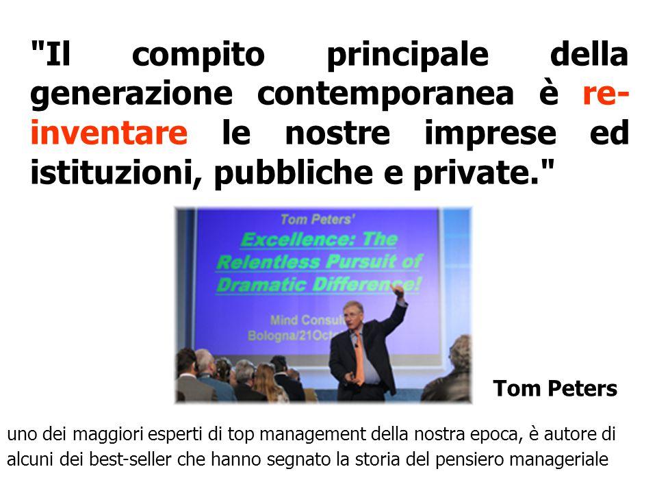 Il compito principale della generazione contemporanea è re- inventare le nostre imprese ed istituzioni, pubbliche e private. Tom Peters uno dei maggiori esperti di top management della nostra epoca, è autore di alcuni dei best-seller che hanno segnato la storia del pensiero manageriale