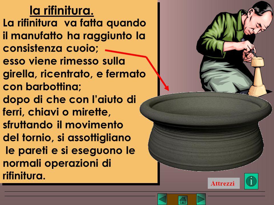 Lucio TROISE mentre, per creare delle strozzature, si premerà dall'esterno verso l'interno (fig. 8- d), aiutandosi magari con stecche e spatole. Quand