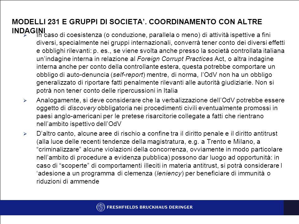 MODELLI 231 E GRUPPI DI SOCIETA'.