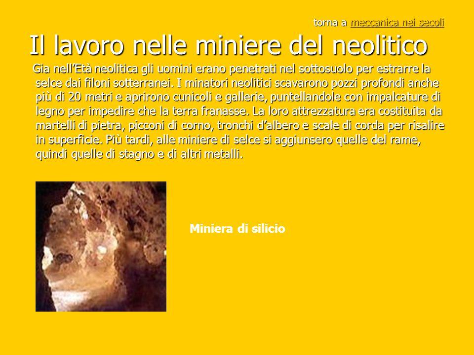 torna a meccanica nei secoli Il lavoro nelle miniere del neolitico meccanica nei secolimeccanica nei secoli Gia nell'Età neolitica gli uomini erano pe