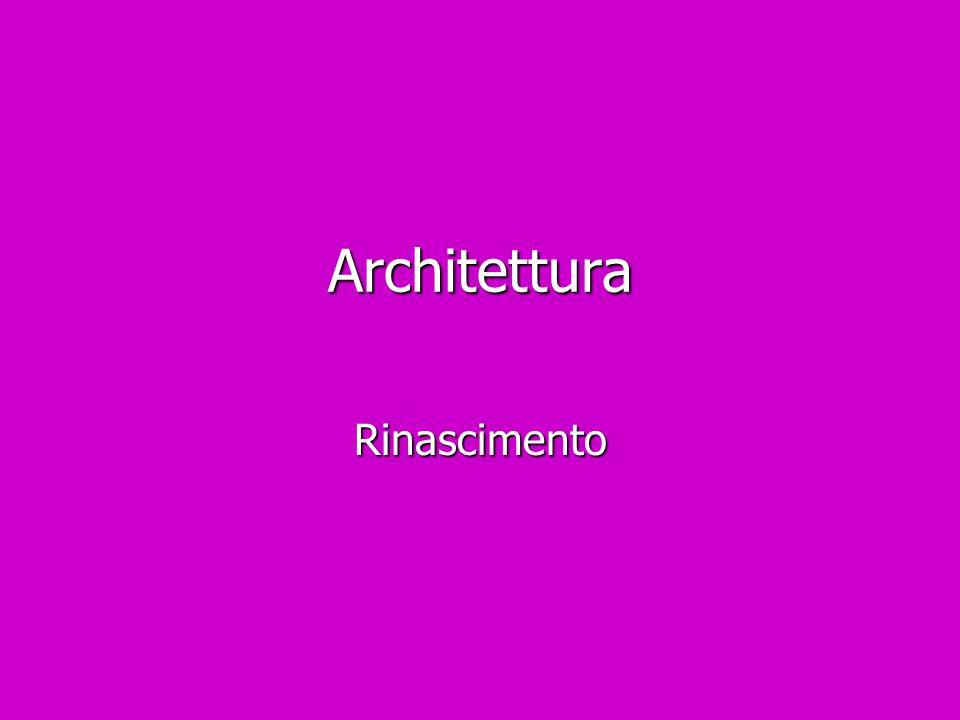 Architettura Rinascimento