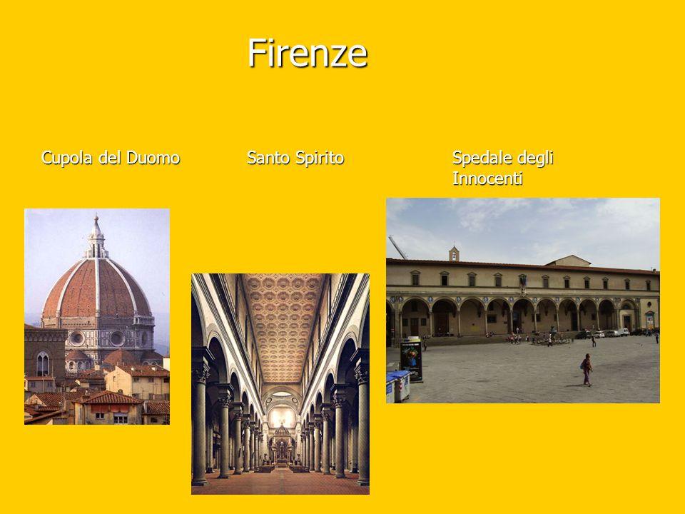 Firenze Cupola del DuomoSanto SpiritoSpedale degli Innocenti