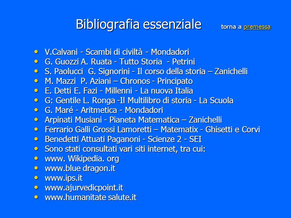 Bibliografia essenziale torna a premessa premessa V.Calvani - Scambi di civiltà - Mondadori V.Calvani - Scambi di civiltà - Mondadori G. Guozzi A. Rua