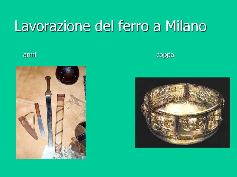 Lavorazione del ferro a Milano armi coppa