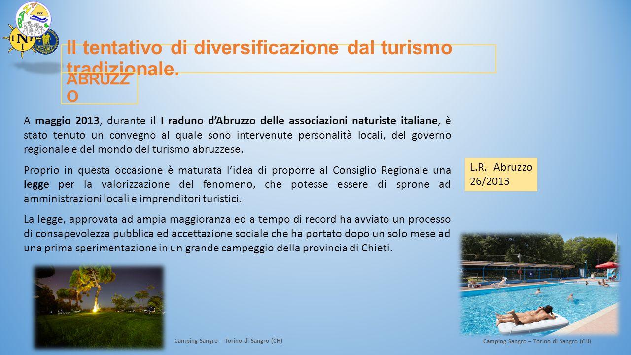 Il tentativo di diversificazione dal turismo tradizionale. A maggio 2013, durante il I raduno d'Abruzzo delle associazioni naturiste italiane, è stato