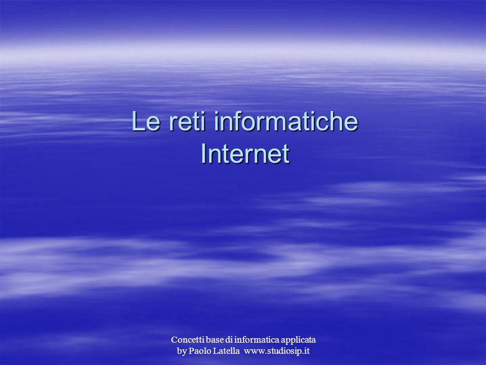 Concetti base di informatica applicata by Paolo Latella www.studiosip.it Programmi shareware In altri casi il prodotto può essere reperito tramite gli