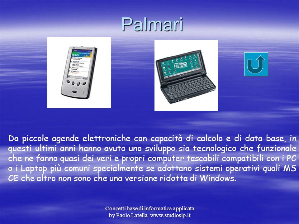 Concetti base di informatica applicata by Paolo Latella www.studiosip.it Calcolatrici In questa categoria troviamo le classiche calcolatrici tascabili