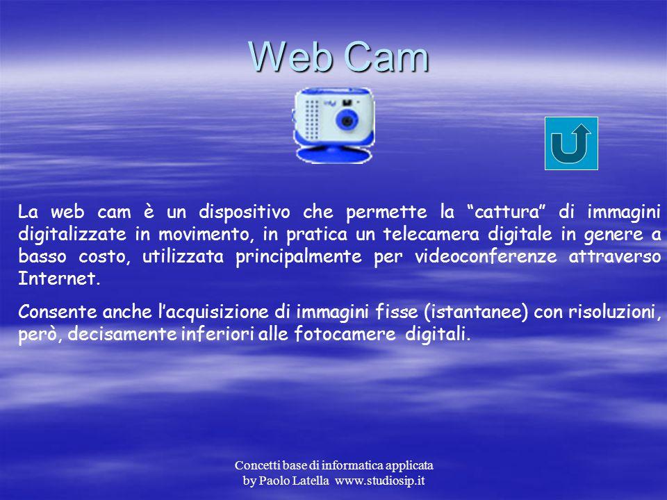 Concetti base di informatica applicata by Paolo Latella www.studiosip.it Scanner Lo scanner o lettore ottico è un dispositivo che permette la digitali