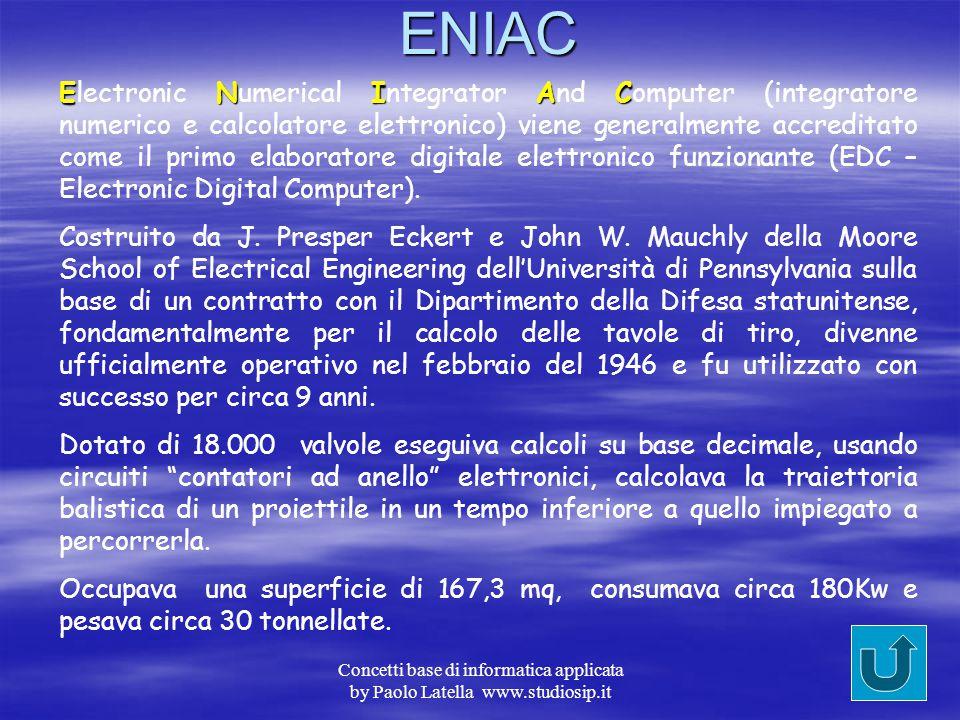 Concetti base di informatica applicata by Paolo Latella www.studiosip.itBabbage Charles Babbage matematico inglese, nato nel 1792 e morto nel 1871, pr