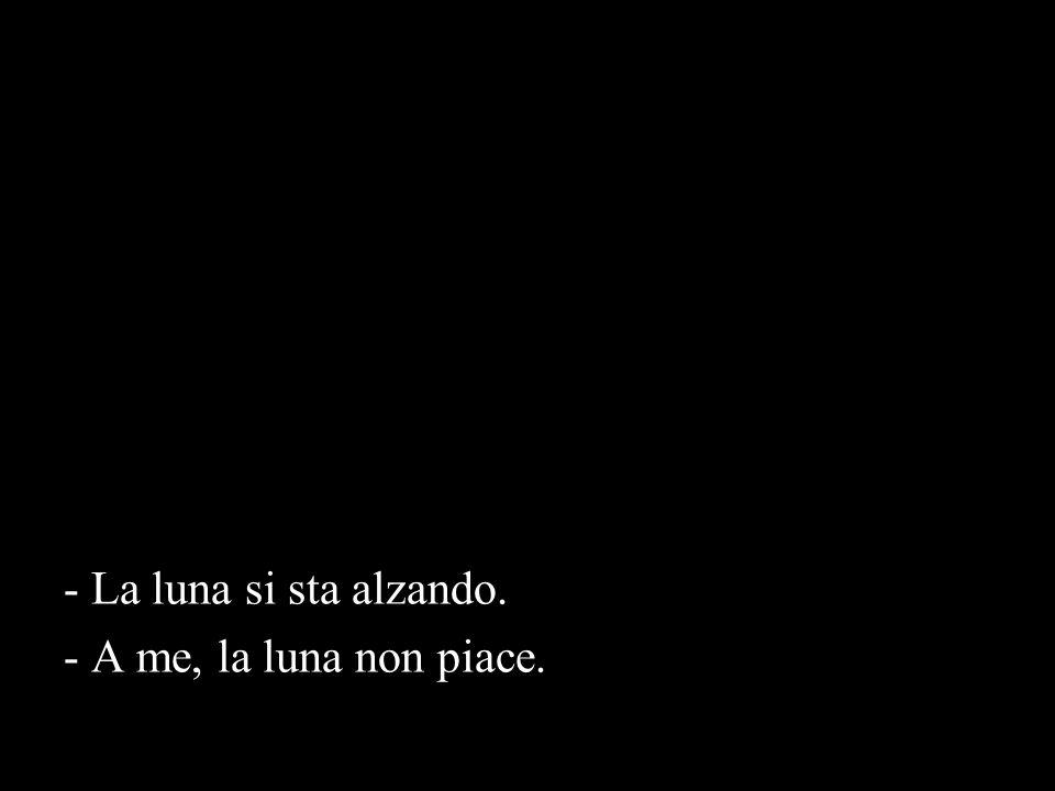- La luna si sta alzando. - A me, la luna non piace.