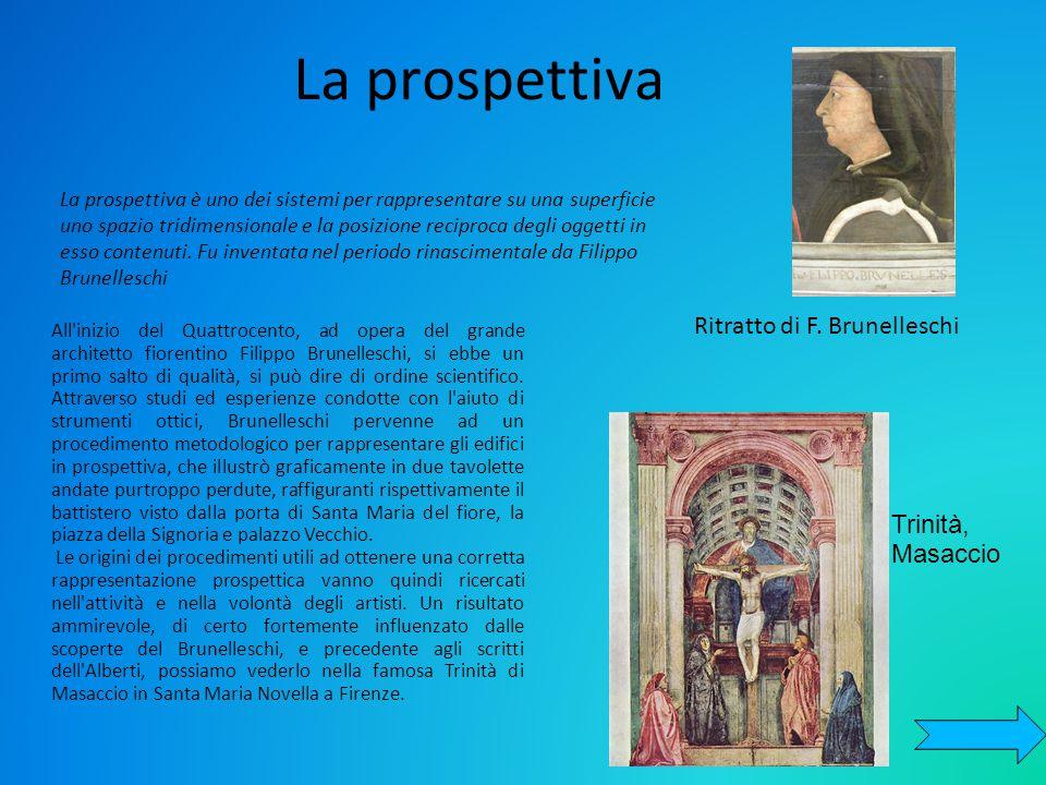 La prospettiva La prospettiva è uno dei sistemi per rappresentare su una superficie uno spazio tridimensionale e la posizione reciproca degli oggetti in esso contenuti.