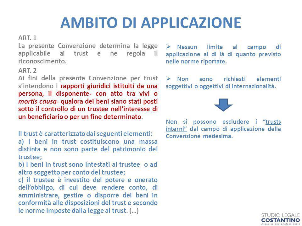 AMBITO DI APPLICAZIONE ART.