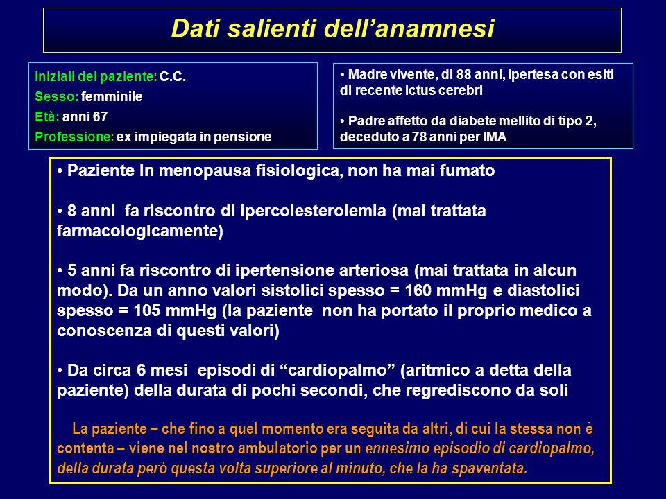 Dati salienti dell'anamnesi Iniziali del paziente: C.C.