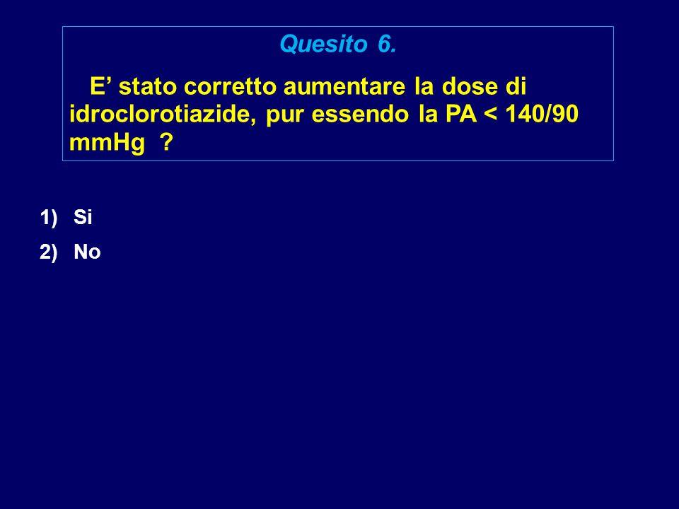 1)Si 2)No Quesito 6.
