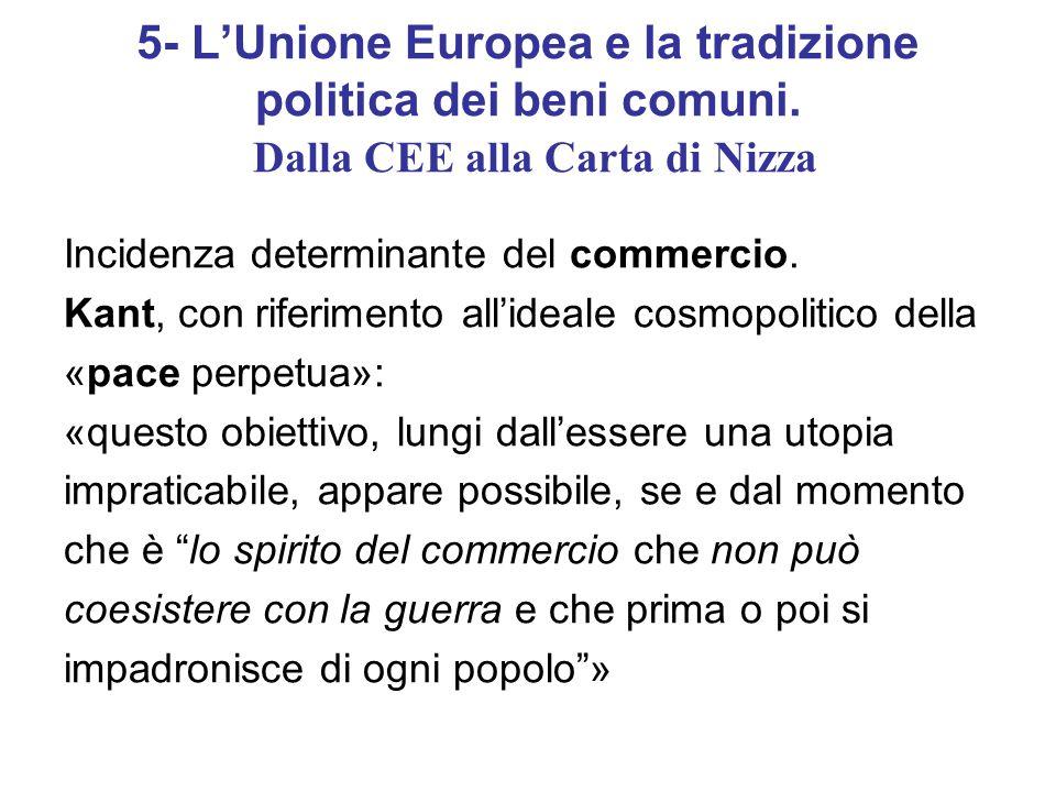 5- L'Unione Europea e la tradizione politica dei beni comuni.