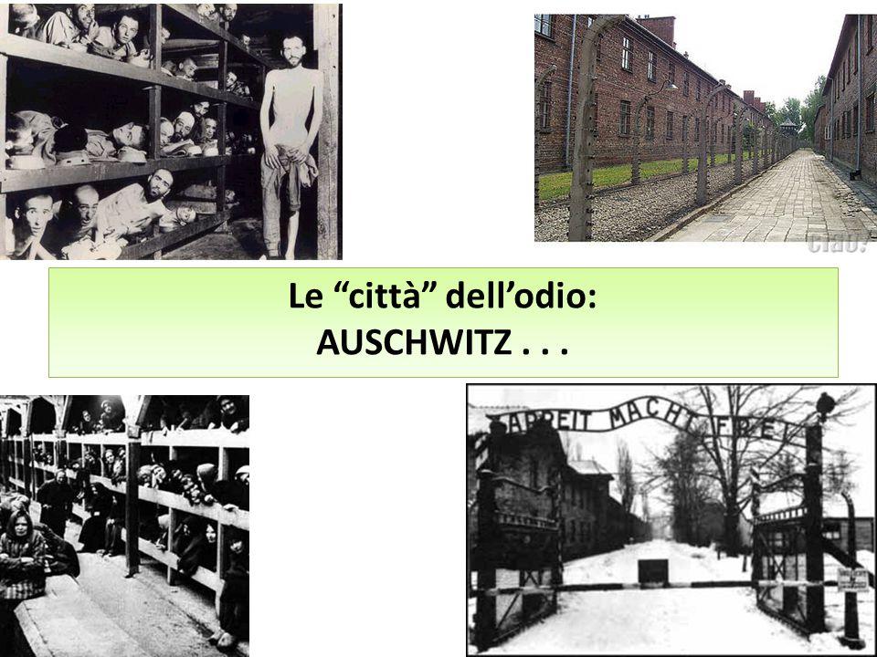 """Le """"città"""" dell'odio: AUSCHWITZ..."""